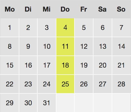 Terminreservierung online: Kalender - Ästhetik Berlin